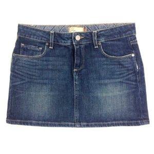Paige Denim  Denim Jean Skirt Malibu Mini Skirt